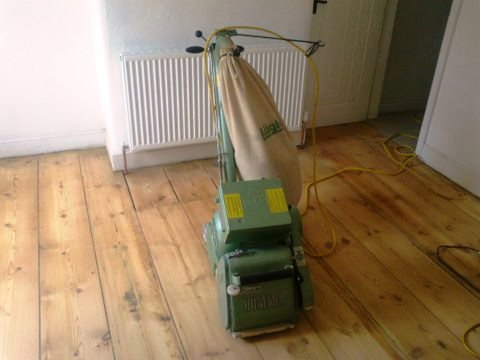 Sanded and Sealed Pine Floor