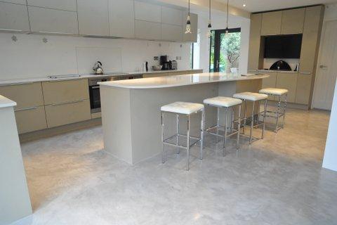 Micro cement kitchen floor jan 2014 top floor pro for Micro floor